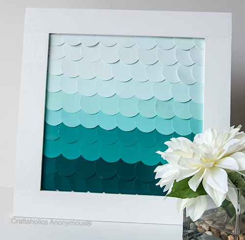 Paint Chips Fish Scale Art