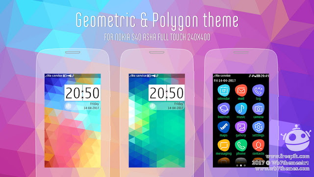 Polygon and Geometric theme full touch 311 310 309 308 305 306