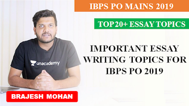 List of Important Essay Writing Topics for IBPS PO Mains 2019