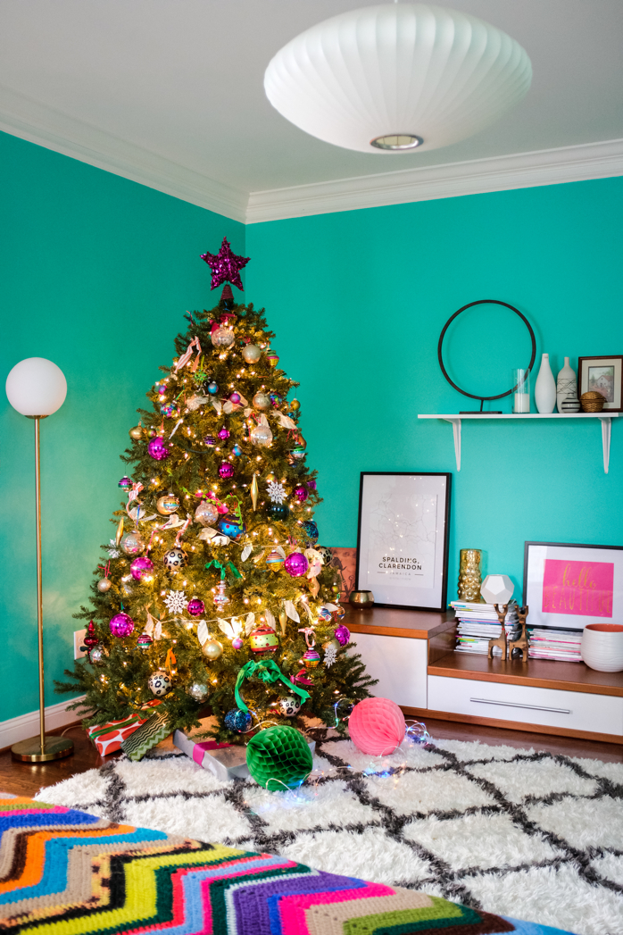 I Placed a Christmas Tree in Our Bedroom This Year- design addict mom