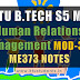 Notes for ME373 Human Relations Management | S5 ME Elective Module-3 and 4