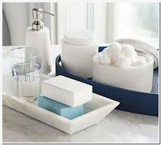 Top ceramic tray for bathroom
