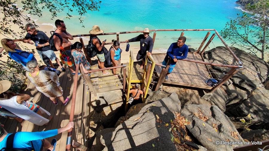 Escada de Acesso a Praia do Sancho