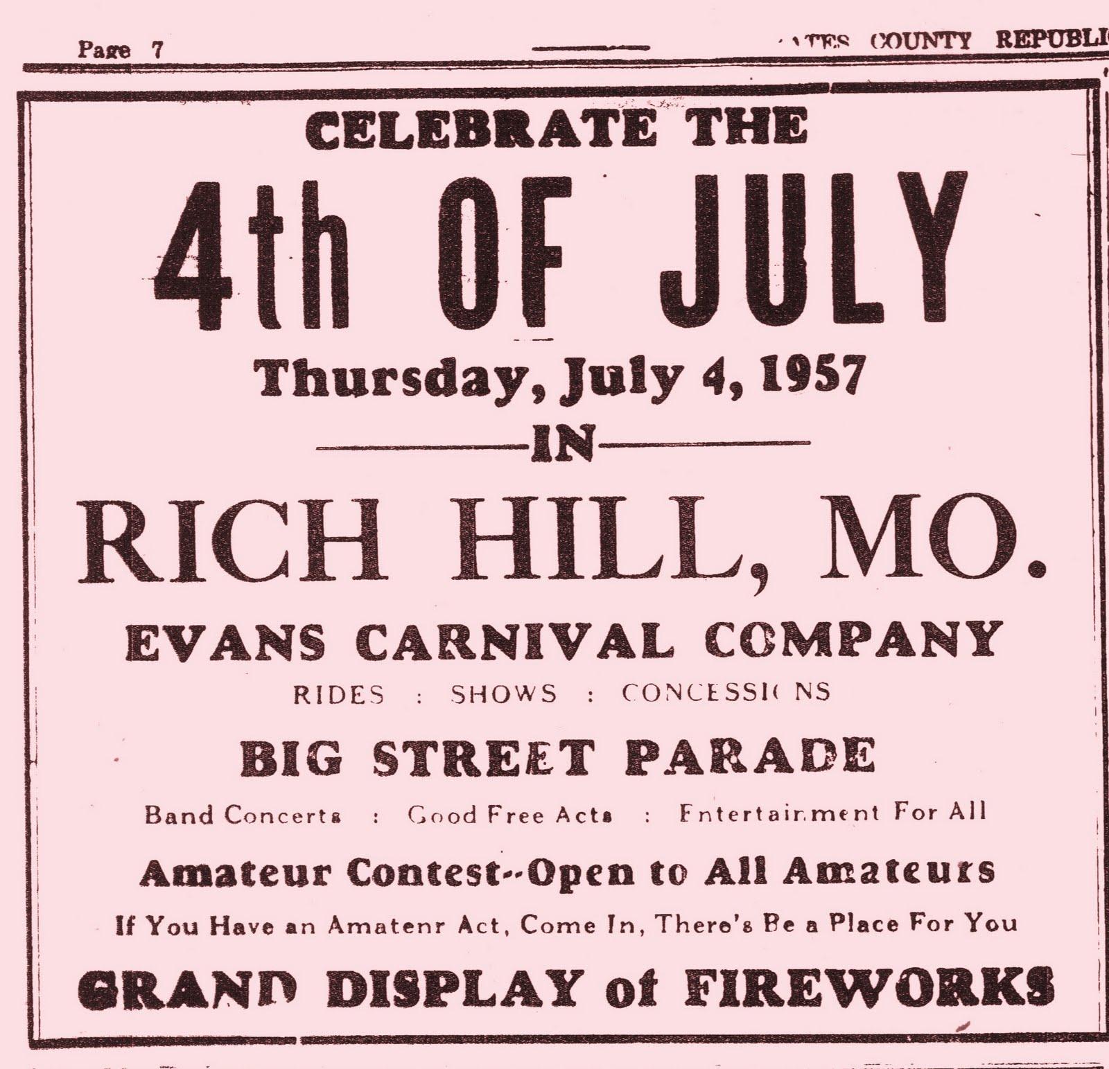 Rich Hill Missouri History: September 2011