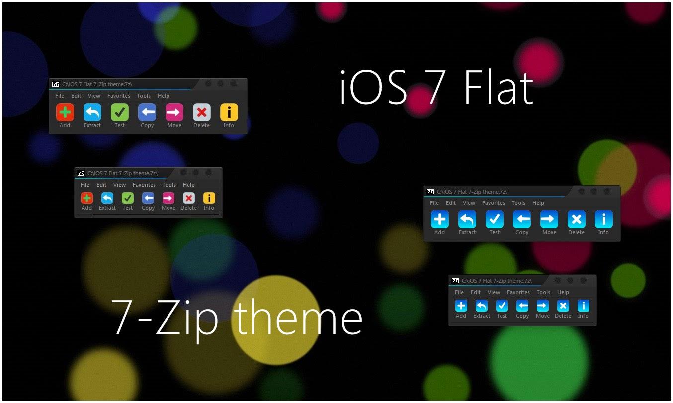 Ios 7 Flat 7 Zip Theme