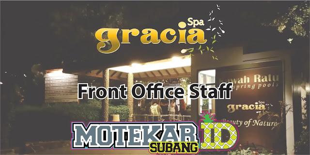 Info Lowongan Pekerjaan Front Office Staff Gracia Spa Resort Ciater Subang 2019