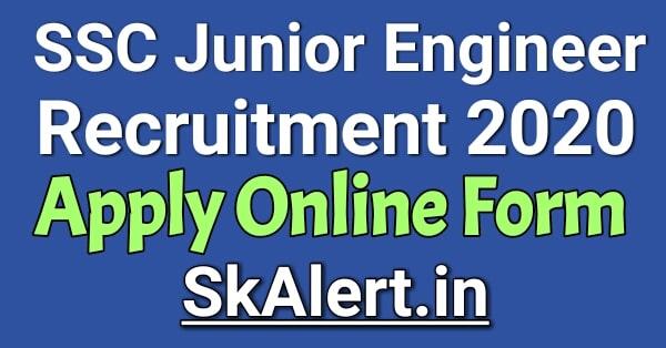 SSC Junior Engineer Recruitment 2020 SSC JE 2020-21 Notification (Soon), Exam Date
