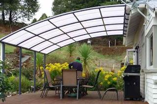 model kanopi minimalis modern baja ringan terbaru