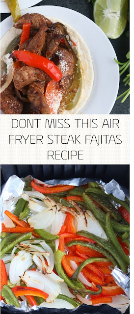 DONT MISS THIS AIR FRYER STEAK FAJITAS RECIPE