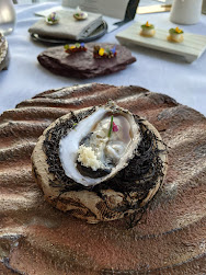 Oyster amuse bouche at House Restaurant at the Cliff House Hotel in Ardmore Ireland