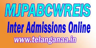 MJPABCWREIS MJP TS BC Welfare RJC CET Inter Admissions Online Apply