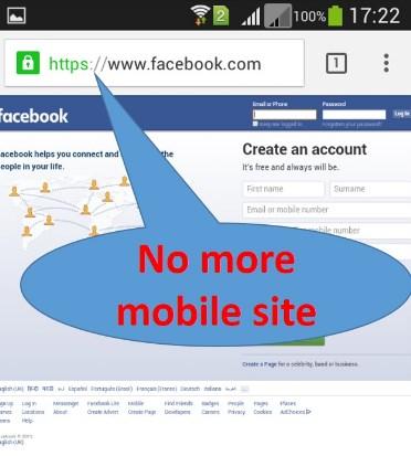 facebook full site mobile browser