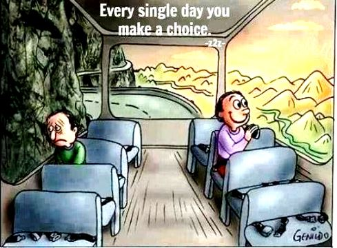 Every single day we choose how we're going to see things - what are you focusing on?