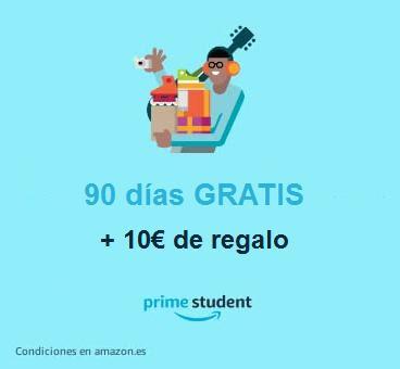 Prueba gratis Prime Student y llévate 10€ de regalo