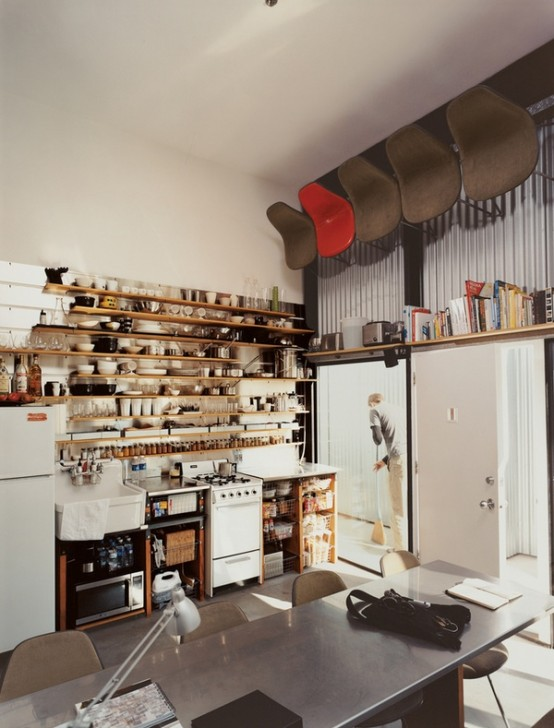 10 fotos de cocinas peque as colores en casa for Estanterias cocinas pequenas