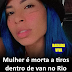 Mulher é morta a tiros dentro de van no Rio