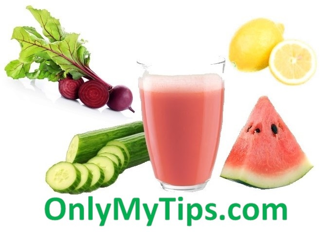 make ice cube from cucumber, beet root, watermelon, lemon, for freshness in summar