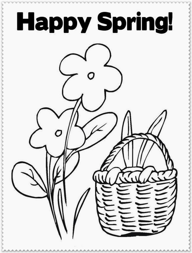 spring coloring pages detailed words - photo#47