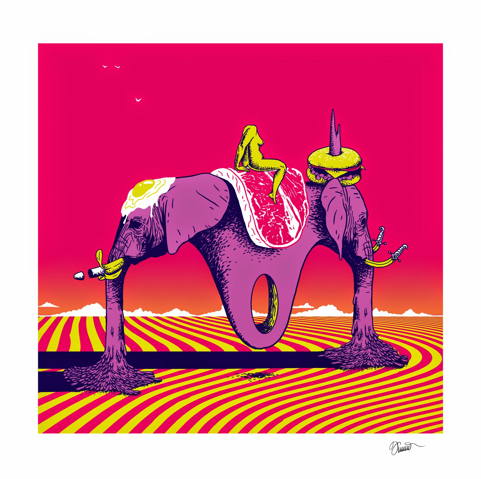 ©Andrey Flakonkishochki - Neon Ecstasy & Psychological Journeys. Ilustración | Illustration