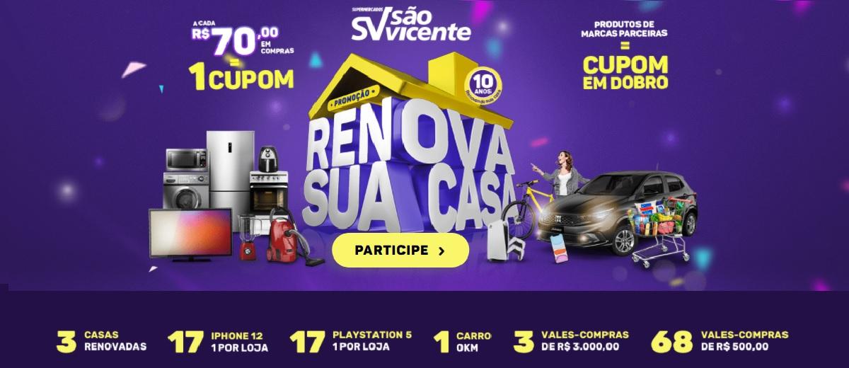 Promoção Renova Sua Casa 2021 São Vicente Supermercados