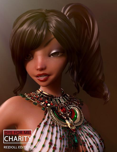 D4M Charity Hair for Genesis 3 Female Bundle