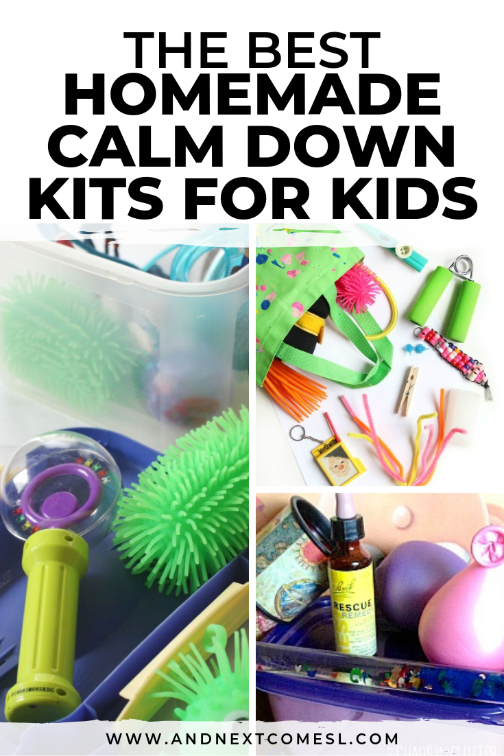Find out how to make a calm down kit for kids with these awesome homemade calm down kit ideas