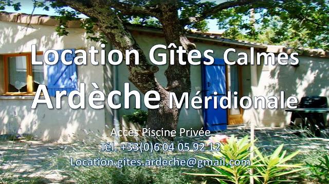 Location gîtes en Ardèche méridionale