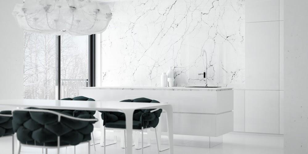 monochrome-marble-kitchen