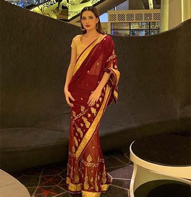 Mayang Yudittia Pakai Baju India