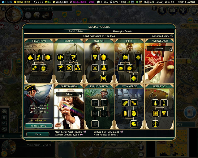 Social Policies | Civilization 5 screenshot