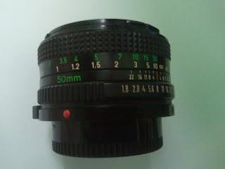 detail lensa canon FD 50mm f/1.8