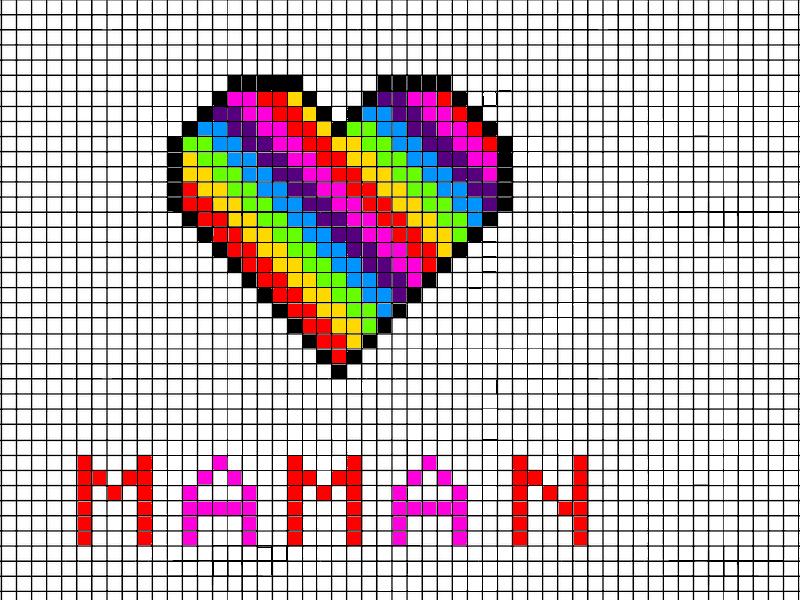 Dessin Pixel Art Facile Coeur
