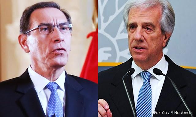 Martín Vizcarra y Tabaré Vázquez lideran aprobación en Latinoamérica