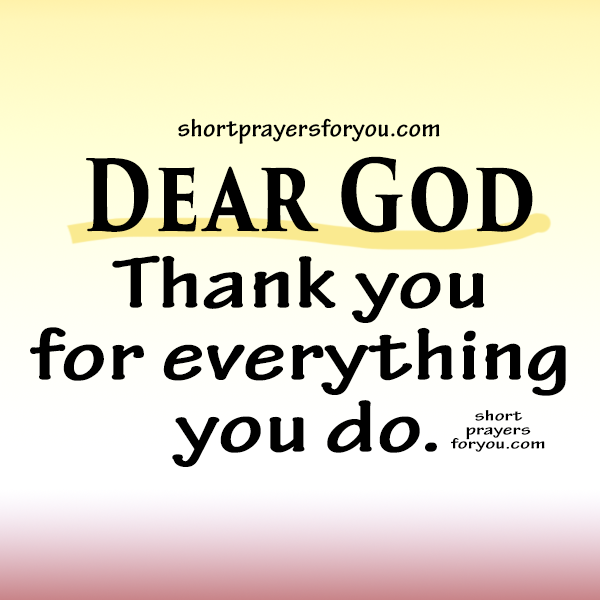 christian image dear God thank you for everything