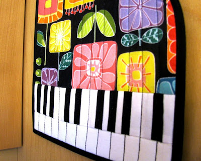 grand piano quilted hot pad pattern - detail 2