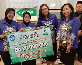 Puskesmas Gunung Lingkas dan TK Hang Tuah Tarakan Menorehkan Prestasi pada Lomba Sekolah Sehat Berkarakter Tingkat Nasional