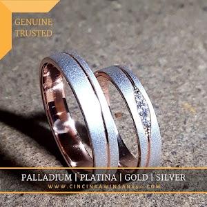 cincin kawin palladium pasangan 569