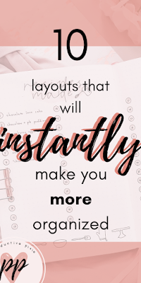 10 Layouts That Will Instantly Help You to be More Organized
