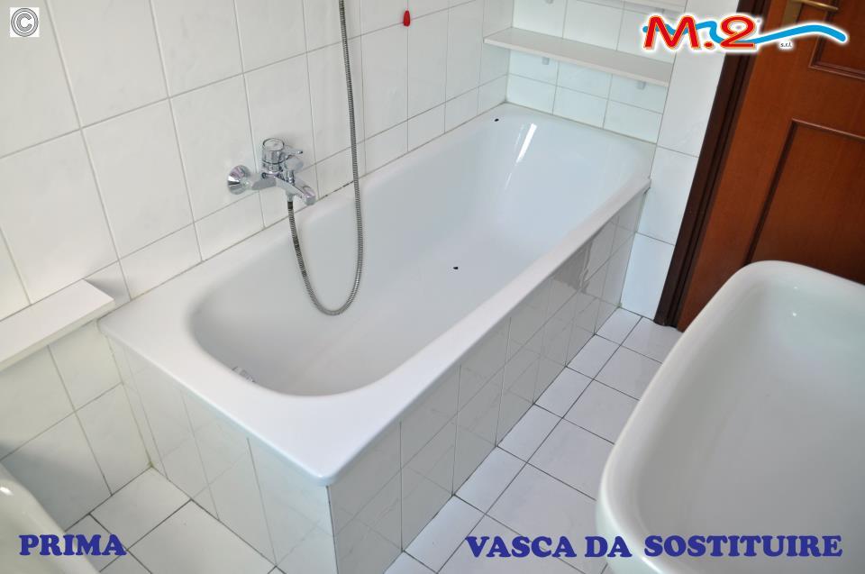 sovrapposizione vasca da bagno colorata   m.2 trasformazione vasca