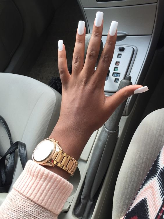 Long Square White Nails | Best Nail Designs 2018