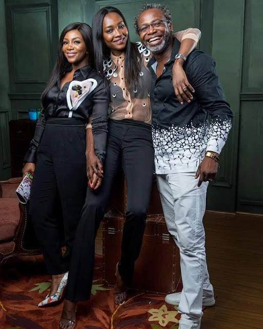 Photos: Black beauties! Genevieve Nnaji and Oluchi Orlandi twinning