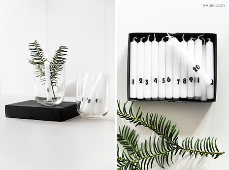 Mit dieser Technik beschriftest du Kerzen mit zahlen für einen Adventskalender.