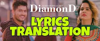 Diamond Lyrics in English | With Translation | – Gurnam Bhullar