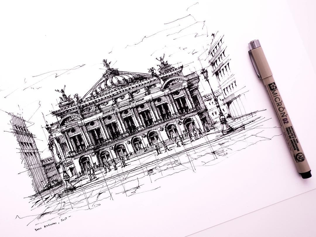 04-Opera-Garnier-Dan-Hogman-Urban-Sketches-of-Paris-in-France-www-designstack-co