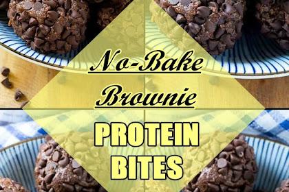 No-Bake #Brownie #Protein #Bites