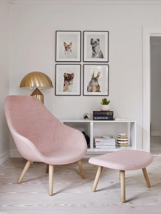 Sillón en color rosa
