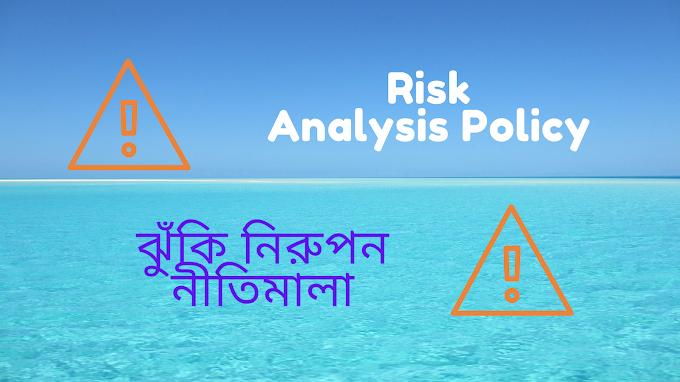 Risk Analysis Policy - ঝুঁকি নিরুপন নীতিমালা
