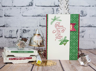 Peace Joy and Love Christmas Card Made with the This Christmas Suite from Stampin' Up! UK