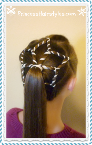 Snowflake hairstyle, for Christmas