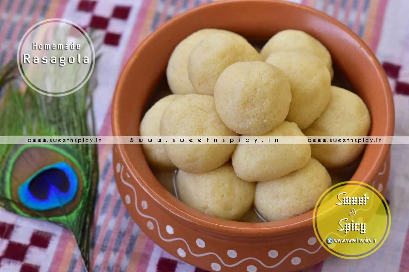 Homemade Rasagolas